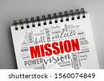 mission word cloud collage ... | Shutterstock . vector #1560074849