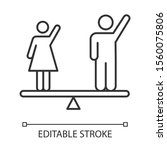 gender equality linear icon.... | Shutterstock .eps vector #1560075806