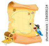illustration of a treasure map... | Shutterstock .eps vector #156008114