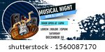 music party banner  flyer ... | Shutterstock .eps vector #1560087170