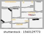 white ripped paper strips...   Shutterstock .eps vector #1560129773