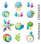 set of design elements. people... | Shutterstock . vector #156016424