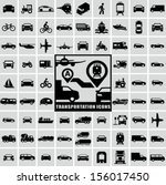 transportation icons  | Shutterstock .eps vector #156017450