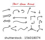 hand drawn arrows set isolated... | Shutterstock .eps vector #156018074