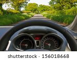 view from behind the steering... | Shutterstock . vector #156018668
