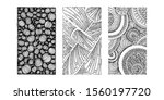 set of hand drawn grunge... | Shutterstock .eps vector #1560197720