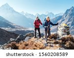 Couple Following Everest Base...