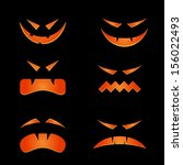 scary faces for halloween | Shutterstock .eps vector #156022493