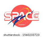 Space Journey slogan t shirt print design