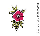 flower doodle icon  traditional ... | Shutterstock .eps vector #1560234359