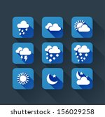 weather app flat icons for...
