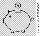 piggy bank icon on transparent...
