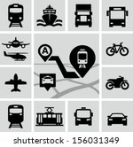 transportation icons | Shutterstock .eps vector #156031349
