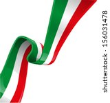 italian background with flag  - stock vector