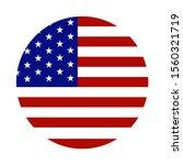 american flag circle on white... | Shutterstock .eps vector #1560321719