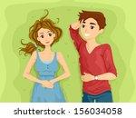 illustration of a teenage... | Shutterstock .eps vector #156034058
