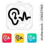 ear hearing sound icon. vector... | Shutterstock .eps vector #156037460
