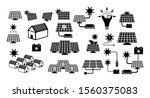set of green energy icon or... | Shutterstock .eps vector #1560375083