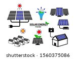 set of green energy icon or... | Shutterstock .eps vector #1560375086