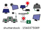 set of green energy icon or... | Shutterstock .eps vector #1560375089