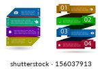 web banners infographic option | Shutterstock .eps vector #156037913