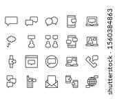message and speech bubble... | Shutterstock .eps vector #1560384863