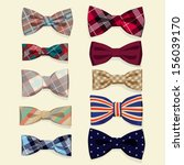 set of vector bow ties | Shutterstock .eps vector #156039170