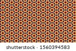 pattern with symmetric... | Shutterstock . vector #1560394583