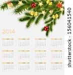 2014 new year calendar vector... | Shutterstock .eps vector #156041540