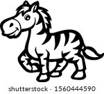 cute zebra cartoon image  seen...