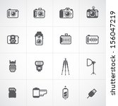 camera icons and camera...   Shutterstock .eps vector #156047219