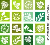 plants and flowers icons | Shutterstock .eps vector #156049388