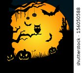 grungy halloween background... | Shutterstock .eps vector #156050588