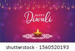 diwali design with realistic... | Shutterstock . vector #1560520193