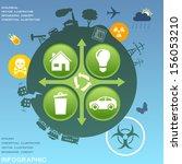 ecological infographic design... | Shutterstock .eps vector #156053210