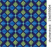 seamless embroidered repeat... | Shutterstock .eps vector #156055004