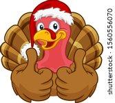 turkey christmas or... | Shutterstock .eps vector #1560556070