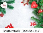 christmas background in red ... | Shutterstock . vector #1560558419