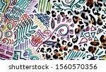 animal print room. safari... | Shutterstock . vector #1560570356