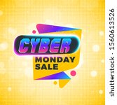 cyber monday sale sticker.... | Shutterstock .eps vector #1560613526