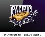 pacific sand crab mascot logo... | Shutterstock .eps vector #1560640859