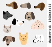 Illustration Set Of Dogs In...