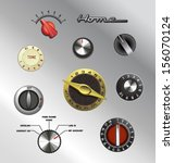 vintage knobs dials and buttons set 4