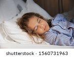 Cute Little Girl Sleeping In...