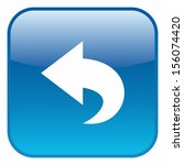 undo symbol  glossy rounded... | Shutterstock .eps vector #156074420