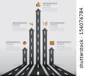 street road   sign infographics ... | Shutterstock .eps vector #156076784