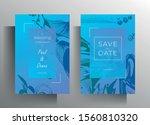 design wedding invitation card... | Shutterstock .eps vector #1560810320