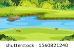 nature scene with river in the... | Shutterstock .eps vector #1560821240