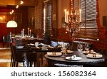new and clean luxury restaurant ... | Shutterstock . vector #156082364