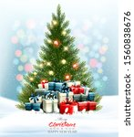 holiday background with a... | Shutterstock .eps vector #1560838676